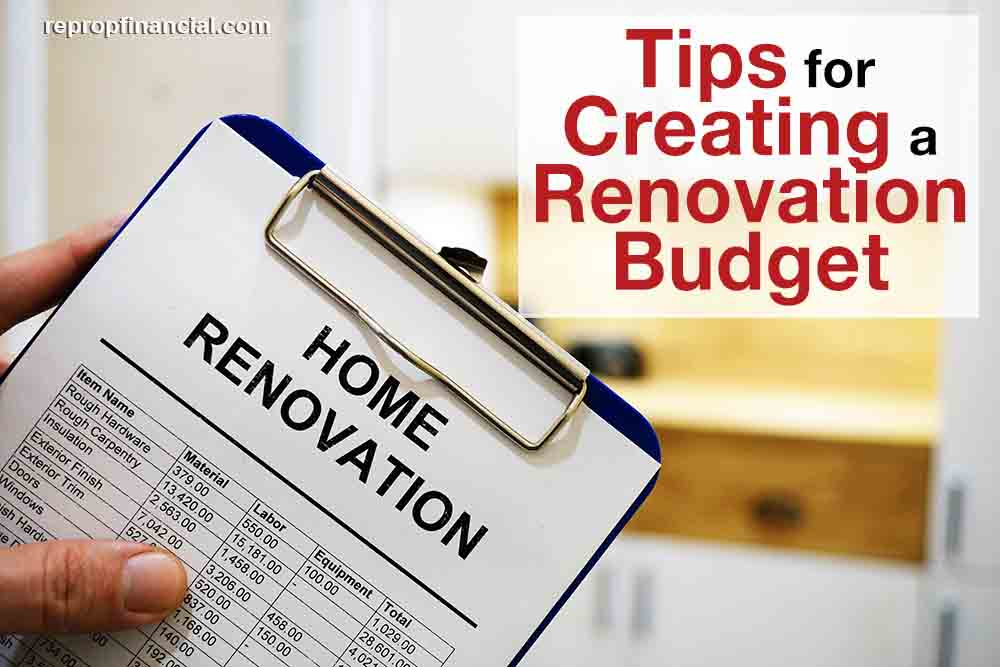 Tips for Creating a Renovation Budget