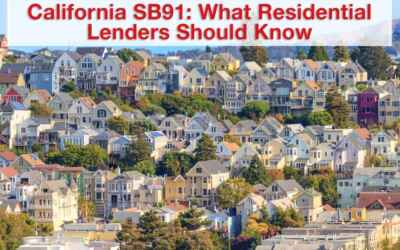 California SB91: What Residential Lenders Should Know
